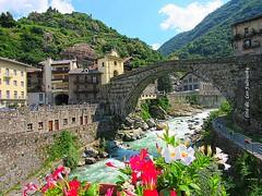The legend Roman bridge. (Leo Fulviosky) Tags: bridge legend lys ponte roma leggenda diavolo devil water saint dog cane