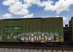 (o texano) Tags: houston texas graffiti trains freights bench benching gouls ghouls a2m adikts d30 sws wh