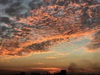 Winter sunset (25ºC/77ºF) from a building roof, SCS, São Paulo, Brazil.