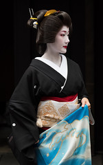 Noble (byzanceblue) Tags: 京都 gion maiko japan kyoto japanese dance woman girl female cute lovely beautiful beauty 舞妓 舞踊 geisha kimono traditional geiko kanzashi formal 祇園 black 花街 white color colour flower nikkor background people photo portrait professional lady lovery 芸妓 着物 bokeh 節分 red traditonal 平安神宮 奉納舞 祇園小唄 祇園甲部 nakagishi 中支志
