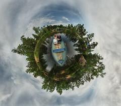 wedding little planet (Anton_Letov) Tags: weddingphoto nikon fisheye sky clouds blue green wedding water