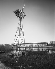 No Wind No ... No ... (Alexis Cayot) Tags: cayot blanc dilution alexis format film hc110 inoir pinhole delta etang plan eolienne 100 4x5 argentique ilford analog stenope