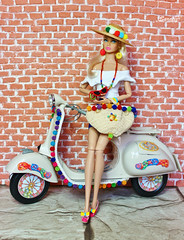 A-Z Challenge: Quirky Style (saratiz) Tags: quirky poppyparker ciaopoppy hat bag motorbike sicily summer wall blond