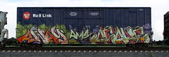 Away/Asahe (quiet-silence) Tags: graffiti graff freight fr8 train railroad railcar art away awae asahe ams boxcar mrl mrl11015 e2e endtoend