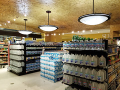 gourmet water... (Nicholas Eckhart) Tags: america us usa 2018 marion indiana in retail stores needlers fresh market former reuse marsh supermarket groceries interior