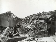 South Croydon bus garage WW2 bomb  damage (3). (Ledlon89) Tags: croydon busgarage southcroydon lt lte lptb londontransport ww2 bomb damage bombdamage wartime war london bus bsues londonbus londonbuses oldlondon