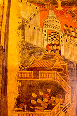 Ancient Buddhist temple mural painting at Wat Phumin, Nan province,Thailand (www.icon0.com) Tags: old mural temple wat ancient travel famous art thailand culture traditional phumin buddhist nan northern wall painting antique women man beautiful religion buddhism asia history asian drawing tourism background decor