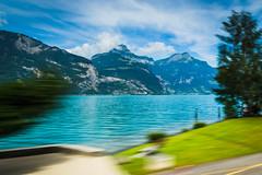 Speeding through a perfect spot of blue (ChodHound) Tags: orientexpress outofthewindowofatrain
