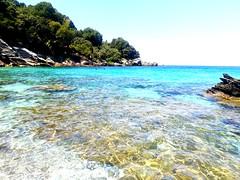 🐚 (__jo_) Tags: greece hellas greeksummer greek summer summervibes beachlife beach beauty seaside sea sealife water colors color colours colour blue pelio pilio volos vacation trip sun sand rocks rock stone stones