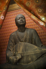 Hoichi playing for the ghosts (DanÅke Carlsson) Tags: japan japanese hoichi legend tale biwa playing blind ghosts akama shrine shimonoseki