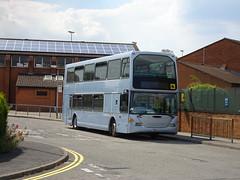 Redfern YN04UJH Newbold (Guy Arab UF) Tags: redfern travel yn04ujh scania n94ud east lancs omnidekka bus st marys school newbold chesterfield derbyshire buses nottingham city transport 745