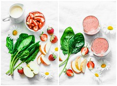smoothie.... (sonja-ksu) Tags: food smoothies drinks strawberry spinach apple healthyfood foodphotography