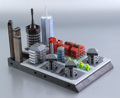 Lego micro city - district n.02 (guitar hero78) Tags: lego legomoc legocity afol toyphotography moc microcity microscale