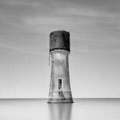 Isolated (Paul Evans.) Tags: slow long mono monochrome exposure water sea nd neutral density filter simple calm composition