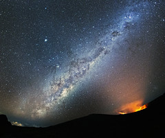 At the beginning of time (Robyn Hooz) Tags: reunion vulcano piton lava luce stars vialattea milkyway notte stelle time tempo constellations costellazioni masterpiece natura nature vision visioni alien love