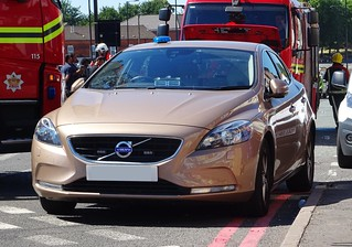 West Midlands Fire Service Unmarked Volvo V40.