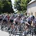 Team Sky, with eventual TDF winner Geraint Thomas, front of the Peloton, Tour de France 2018 at St Mayeux
