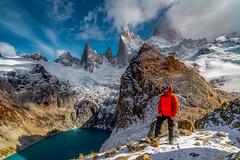 Fitz Roy e Laguna Sucia (Valter Patrial) Tags: laguna sucia fitz roy cerro montefitzroy mountains people patagonia argentina ar