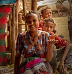 Serving Tea (Rod Waddington) Tags: africa african afrique afrika äthiopien ethiopia ethiopian ethnic etiopia ethnicity ethiopie etiopian lalibela woman serving tea chai children boys cup traditional culture cultural tigray smile