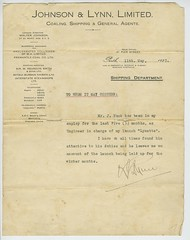 document relating to john huck (maraid) Tags: document australia johnhuck johnsonlynn coal shipping