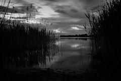 Chiemsee 3 (blaendwaerk) Tags: fujifilm xt2 distance ferne dunkel sunset dark blue water wasser lake see himmel sonnenuntergang meer chiemsee bavaria bayern wolken clouds dämmerung black schwarz weis white