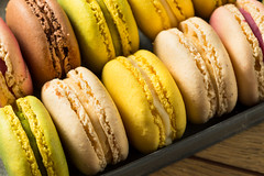 Colorful Homemade Sweet French Macarons (brent.hofacker) Tags: assorted assortment background bake bakery biscuit brown cake candy chocolate color colorful confection confectionery cookie cream delicious dessert flavor food france french gourmet green macaron macarons macaroon macaroons pastel pastry pink snack stack sugar sweet tasty traditional yellow