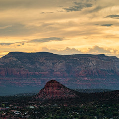 Big Rock, Bigger Rock (johnny4eyes1) Tags: redrockcountry goldenhour landscape verdevalley mountains sunset arizona sundown scrubdesert sedona desert nationalgeographic natgeoyourshot capitolbutte bearmountain