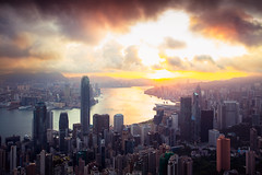 Hong Kong sunrise, View from The peak, Hong Kong (Patrick Foto ;)) Tags: aerial architecture asia building business china city cityscape dawn district downtown dusk famous financial harbor harbour high hong hongkong island kong kowloon landscape light modern morning mountain night office park peak place river scene scenic sea sky skyline skyscraper sun sunrise sunset tourism tower travel twilight urban vertical victoria view hongkongisland hk