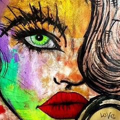 Adélie (franck.sastre) Tags: face femme eyes visage lips levres labios art painting green