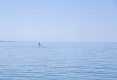 Way out there (devon 6824) Tags: lake water paddleboarding negativespace week56 summer hotday beach sky bay