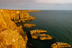 South Stack Cliffs (alan.dphotos) Tags: anglesea northwales sea shore rock boat sky cliffs guillemott cliff lobsterpot rope