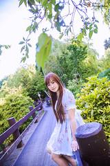 A Walk in the Park (Alkun(岸蓮)) Tags: vancouver vancity portrait photographer richmond park forest bridge 溫哥華 列治文 人像 公園 樹林 lolita 蘿莉塔 girl 女孩 樹 tree 花園