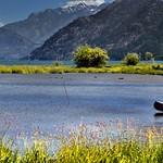 A Canoe, Ducks, a Lake and a Mountain Backdrop (North Cascades National Park Service Complex) thumbnail