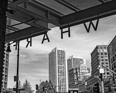 WHARF (mgstanton) Tags: boston greenway summer wharf bw blackandwhite monochrome independencewharf street urban atlanticave seaportblvd seaport