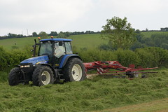 New Holland TM155 Tractor with a Lely Hibiscus 745 CD Vario Silage Rake (Shane Casey CK25) Tags: new holland tm155 tractor lely hibiscus 745 cd vario silage rake cnh nh blue newholland traktor traktori trekker tracteur trator ciągnik silage18 silage2018 grass grass18 grass2018 winter feed fodder county cork ireland irish farm farmer farming agri agriculture contractor field ground soil earth cows cattle work working horse power horsepower hp pull pulling cut cutting crop lifting machine machinery nikon d7200