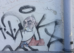 Nute (svennevenn) Tags: pasteups nute viceroynute gatekunst streetart bergen beard skjegg