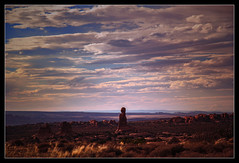 Pointer (Seeing Things My Way...) Tags: arch desert utah usa clouds blue rock stone arches archesnationalpark