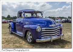 Blue Chevrolet (Paul Simpson Photography) Tags: chevrolet car american classic chrome bluecar oldcar old retro doncaster sunshine paulsimpsonphotography imagesof imageof photoof photosof sonya77 sonyphotography july2018 grass field transport transportation transportshow