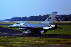 F-16A 80-0614/ HR 10th TFS/ 50th TFW USAFE (Hahn Air Base, Germany). Soesterberg Air Base, the Netherlands. August 1985. (Scanned from Dia) (Aircraft throughout the years) Tags: f16a 800614 hr 10th tfs 50tfw 10tfs usafe 50th tfw hahn ab germany soesterberg air base netherlands august 1985 scanned from dia