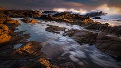 Bean Hollow State Park (PrevailingConditions) Tags: beanhollow sanmateo coast ocean rocks sunset bayarea ca california landscape water surf rock sky sea