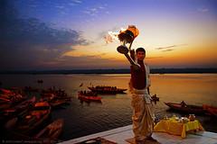 GANGA AARTI AT VARANASI (GOPAN G. NAIR [ GOPS Creativ ]) Tags: gopsorg gopangnair gops gopsphotography gopan photography varanasi benaras aarti gangaaarti ganga ganges river india kashi lamp worship pooja