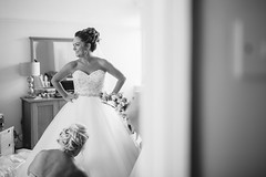 Catherine (Robbie Khan) Tags: canon5d hampshire khanphoto koweddings portrait weddingphotography weddingday bride bridal dress weddingdress blackandwhite 35mm