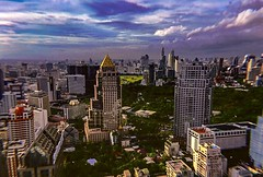 City scapes (kateb0625) Tags: wanderlust countries globe world cityphotography travelphotography tourist explore travel experience views lomography colors rooftop cityscape rain storm clouds sunrise mornings beautiful thailand bangkok goldentemple businesses buildings skyline cityview city