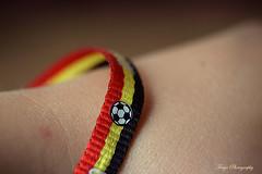 Third! (Maria Godfrida) Tags: 7dwf crazytuesdaytheme football worldcup2018 fifa bracelet belgium belgianflagcolours red yellow closeup psp