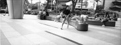 A kids playground is anywhere (JamCanSing) Tags: hasselblad xpan panoramic pano street blackandwhite bnw xtol