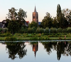 Kerk Groot Ammers (BramvTol) Tags: kerk grootammers holland netherlands nederland ammersekade water spiegeling bomen trees church reflection