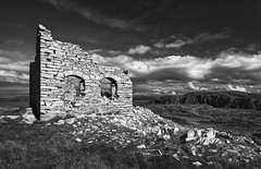Signal Tower (Good News Snaps) Tags: mono bnw blackandwhite bw tower ruin donegal