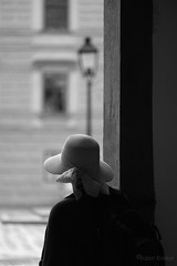 Sudden rain (PIXXELGAMES - Robert Krenker) Tags: vienna wien snapshot unknown candid portrait portret schwarzweiss blackandwhite blacknwhite bnw fujifilm fujinon filmsimulation lifestyle biancoenero thoughts black white ritrato retrato dark lady street streetphotography feminin cute pretty young highheels throwback bianco nero schwarz weis lost thougts thinking melancholie melancholic eyes longhairs blackhairs lips jeans naturally natürlich tryout younggirl posing photoshoot grey beauty youngbeauty girl blackwhite sports fitness rain rainy rainydays hat frombehind