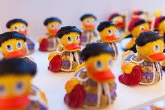 bullfighters (nzfisher) Tags: bullfighter matador rubber rubberduck bokeh 24mm canon colour color colourful colorful barcelona spain holiday duck travel red yellow duckstorebarcelona