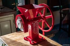 Grain Mill-2 (Anymouse02) Tags: grain mill zhongyi lens turbo nikkor 50mm f18 red sunrise